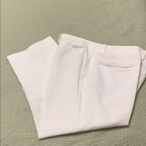 Ann Taylor ivory crop pants! Size 18!  Very nice!